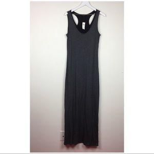 NWT Banana Republic maxi dress gray stretch y back